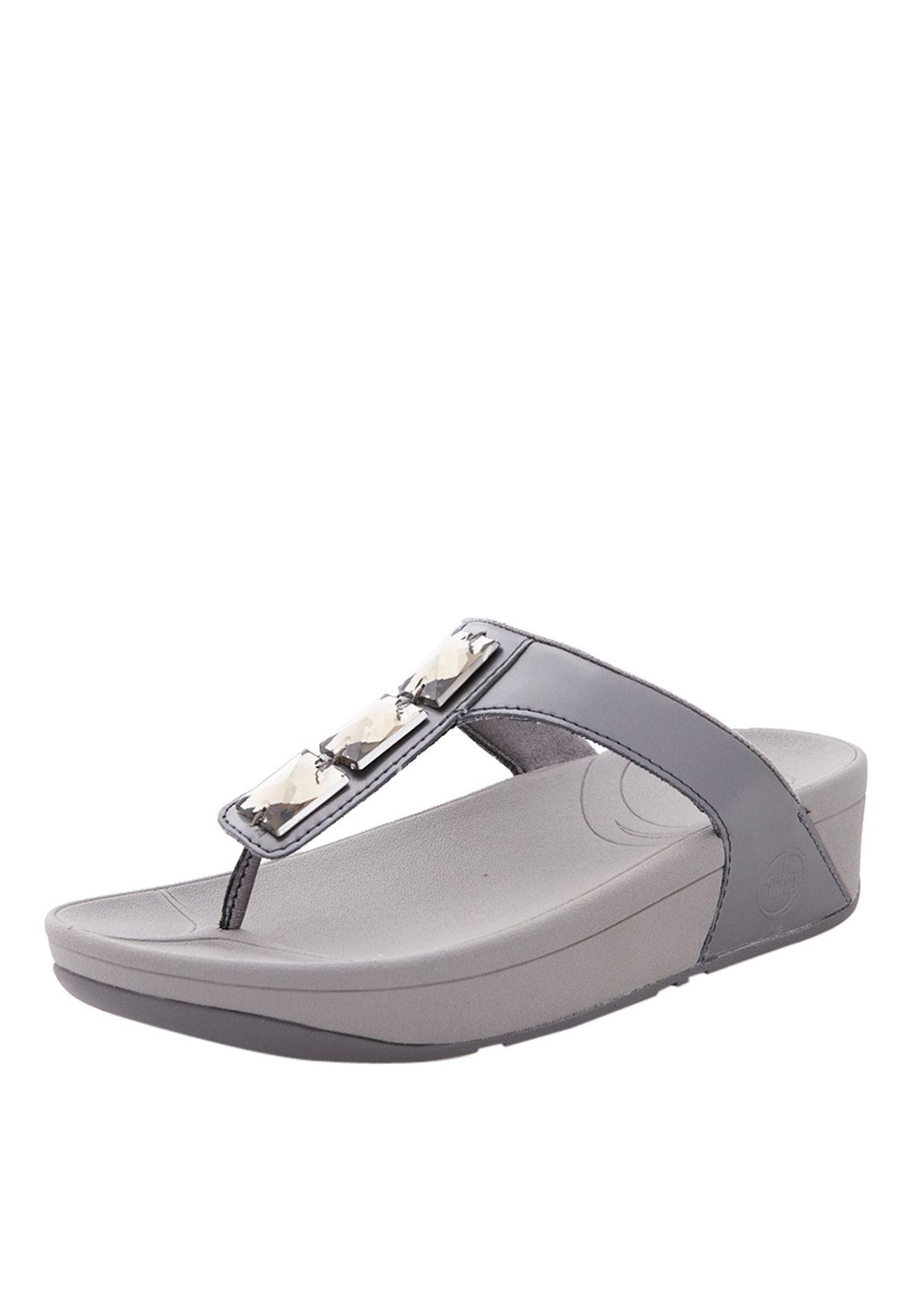 e41413dd7d1f Shop Fitflop grey Pietra Flat Sandals for Women in UAE - FI008SH37PZU