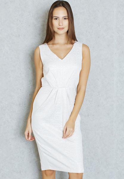 Jacquard Pencil Dress