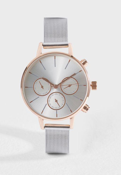 Chronograph Mesh Watch