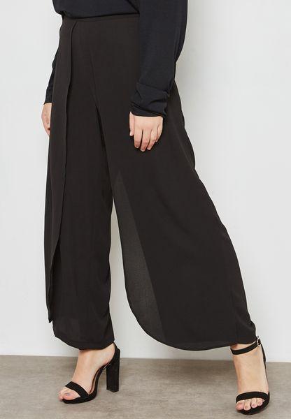 Front Split Wide Leg Pants