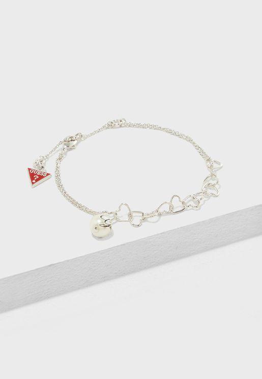 Fine Heart Chain Bracelet