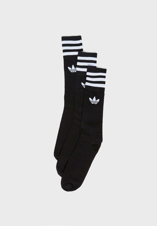 3 Pack adicolor Trefoil Liner Socks