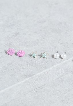 3 Pack Under The Sea Studs