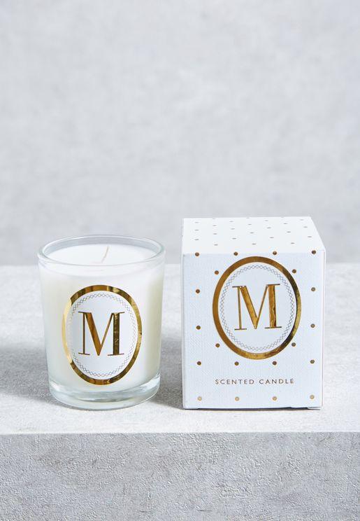 M Alphabet Votive Candle