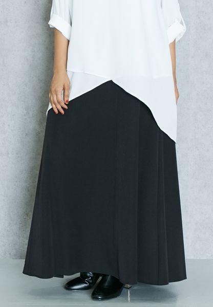 Panelled Maxi Skirt