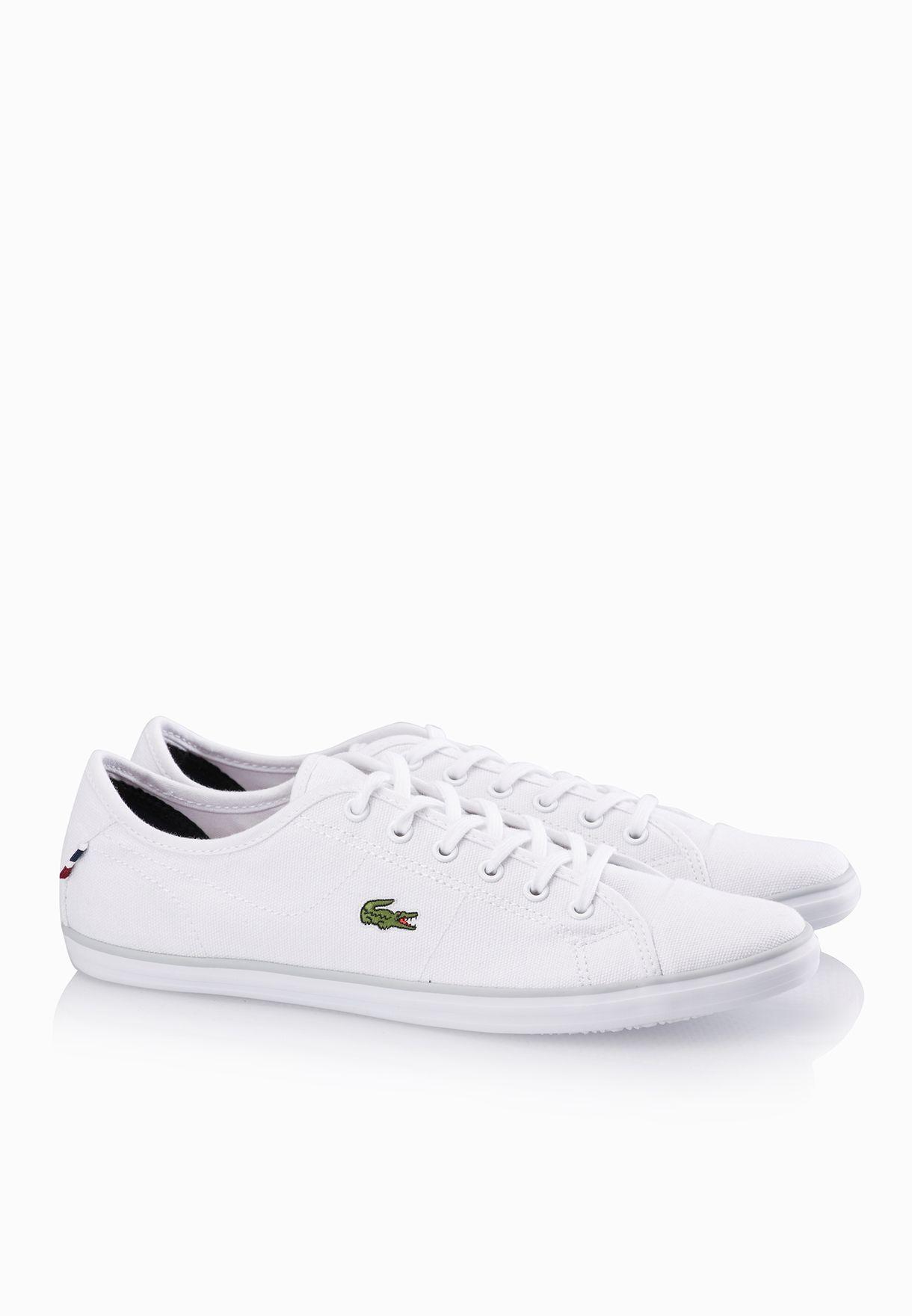 629c4cec5 Shop Lacoste white Ziane TRC Sneakers 30SPW0028-21G for Women in ...