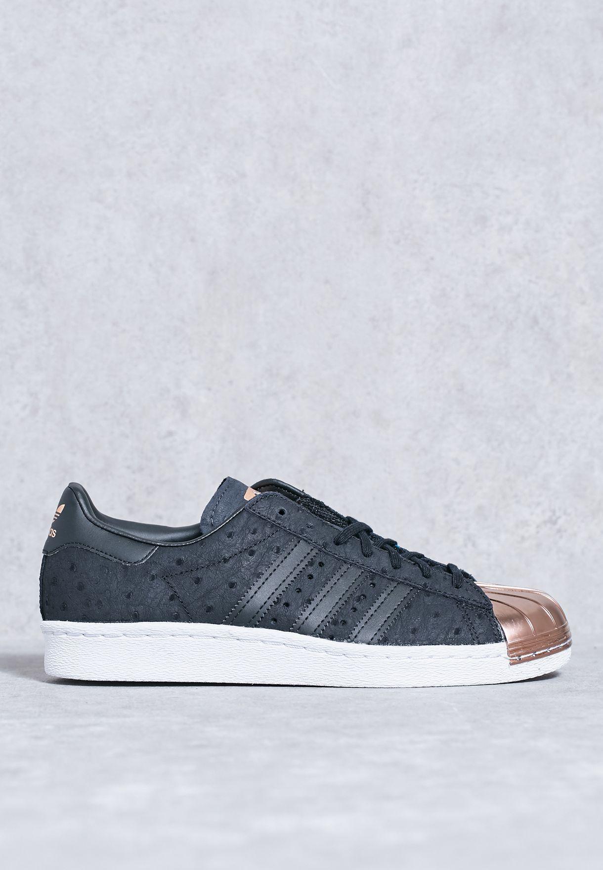 Shop adidas Originals black Superstar 80s Metal Toe S76712 for Women ... 60c91cec58