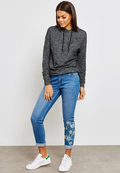 Floral Embroidered Harper Jeans