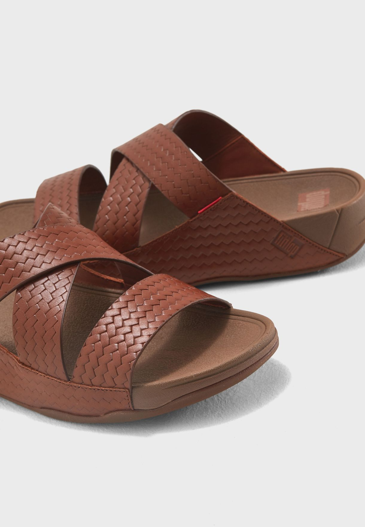 007bb6fc11ae Shop Fitflop browns Woven Arabian Sandals K88-552 for Men in UAE ...