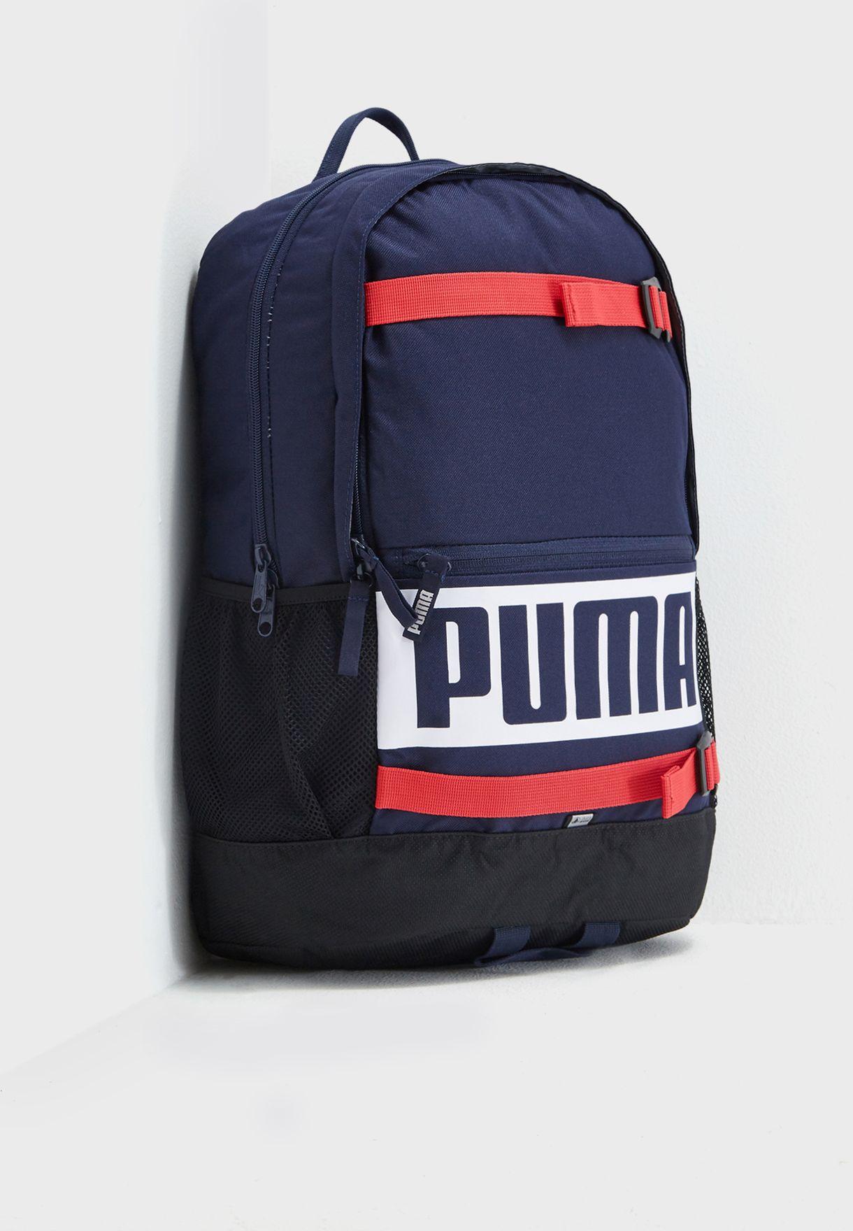 6ae7863529 Shop PUMA navy Deck Backpack 7470610 for Men in UAE - PU020AC27EMI
