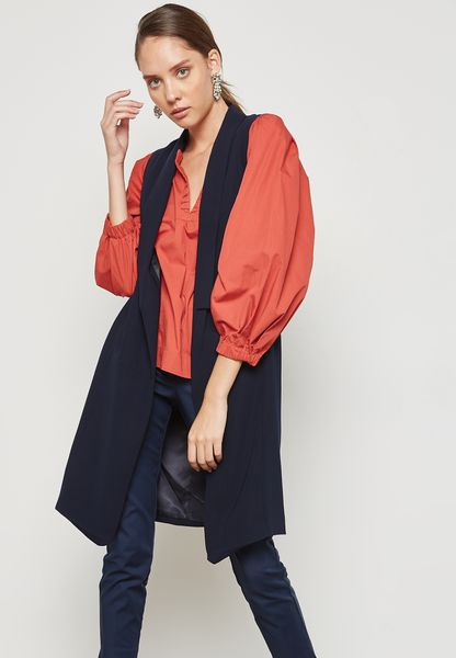 Longline Sleeveless Coat