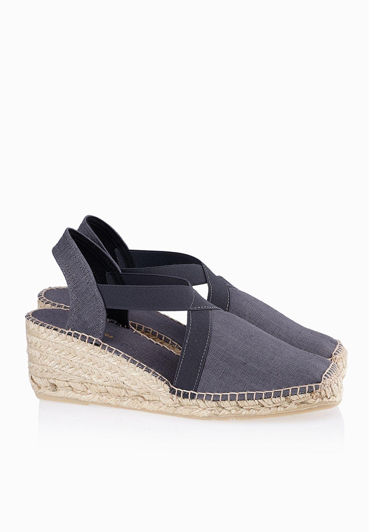 3bf9a515db1ba Shop Toni pons grey Cross Strap Espadrilles Sandals for Women in UAE ...