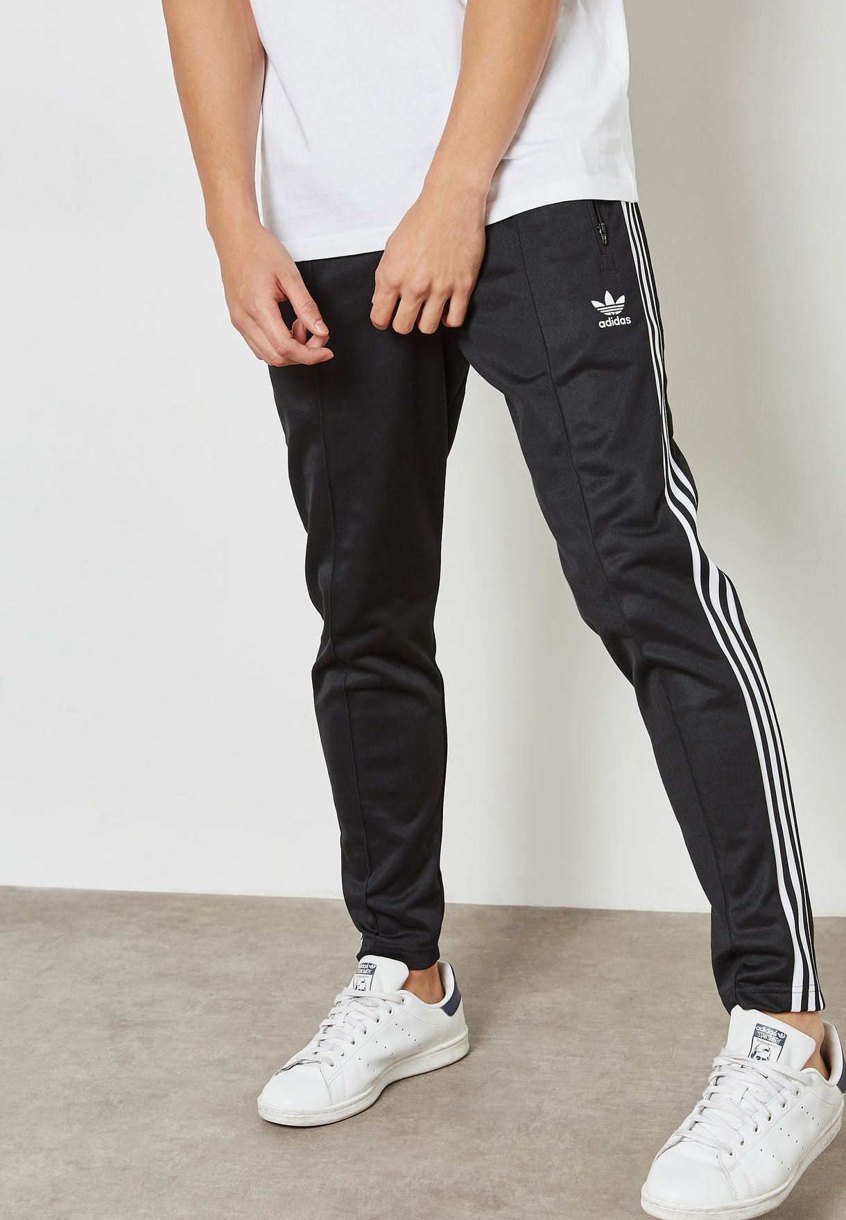Shop adidas Originals black adicolor Beckenbauer Sweatpants CW1269 ... 58beb351bd3