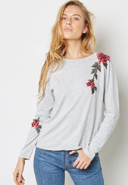 Floral Detail Sweatshirt