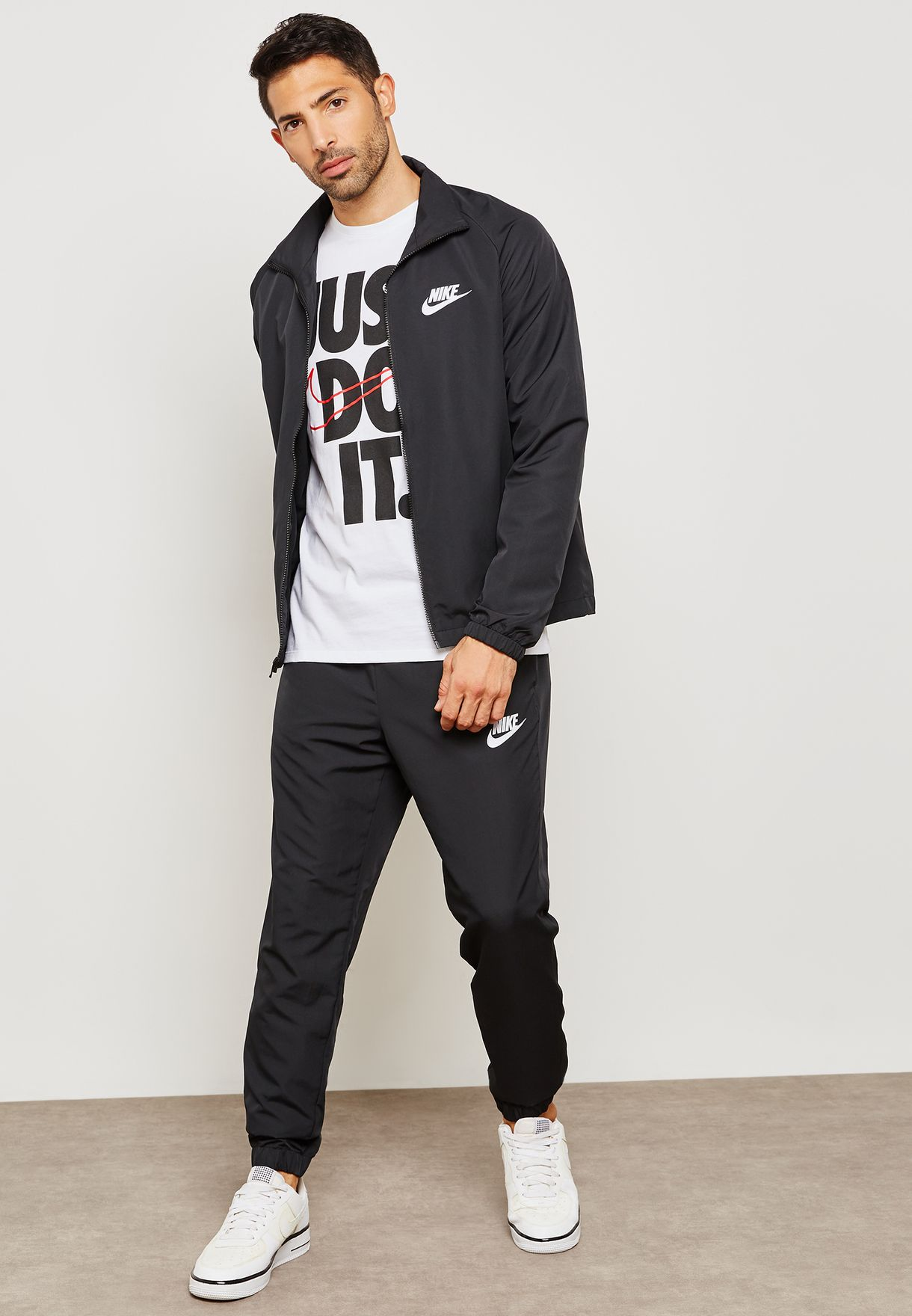 1fc0e7613 Shop Nike black NSW Basic Tracksuit 861778-010 for Men in UAE ...
