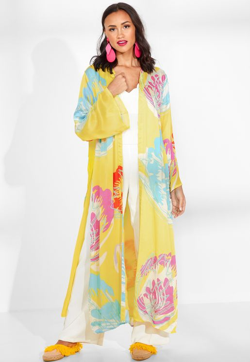 Camila Embroidered Silk Robe