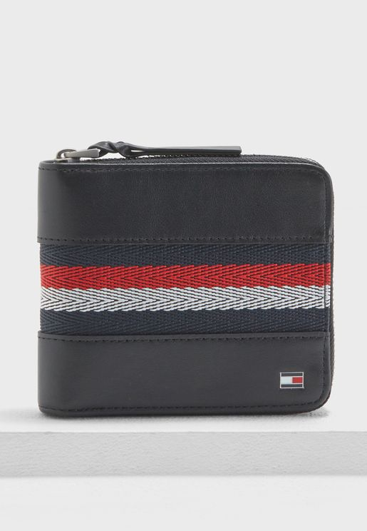 Tommy Hilfiger Corp Webbing Square Zip Wallet