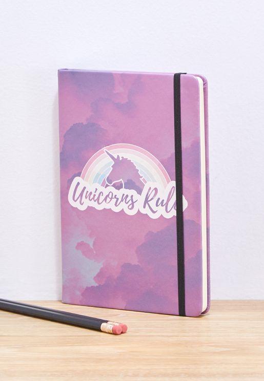 A5 Unicorn Rules Notebook
