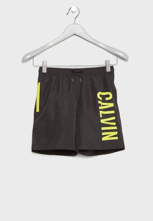 Teen Tie Waist Swim Shorts