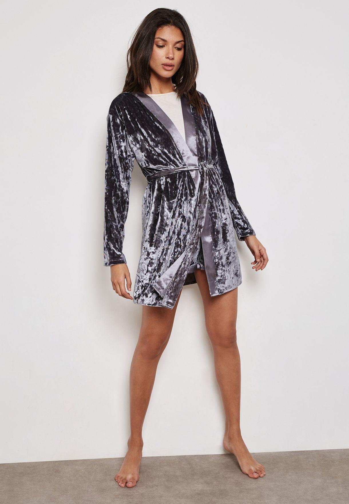 Belted Velvet Robe