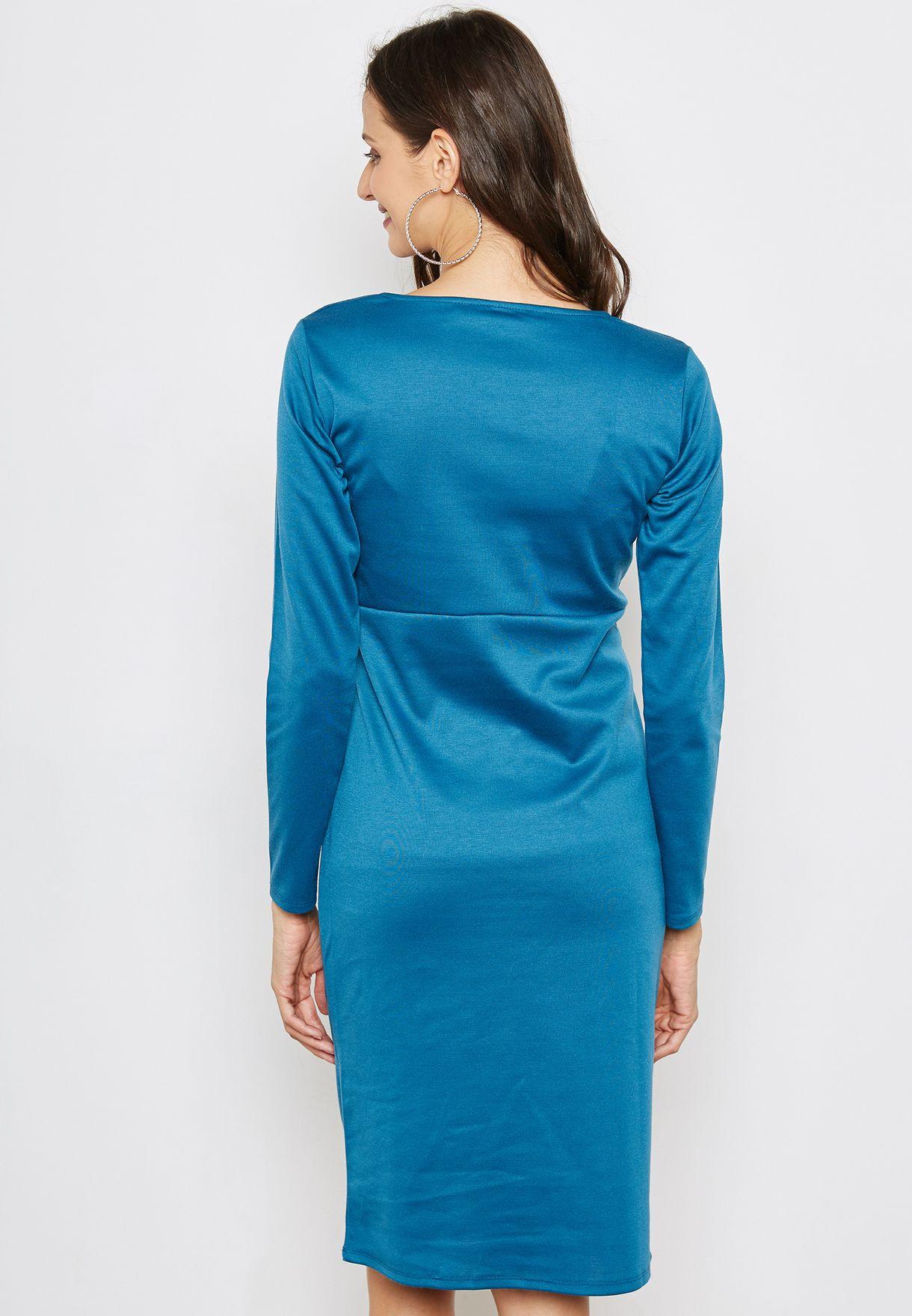 Twist Front Bodycon Dress