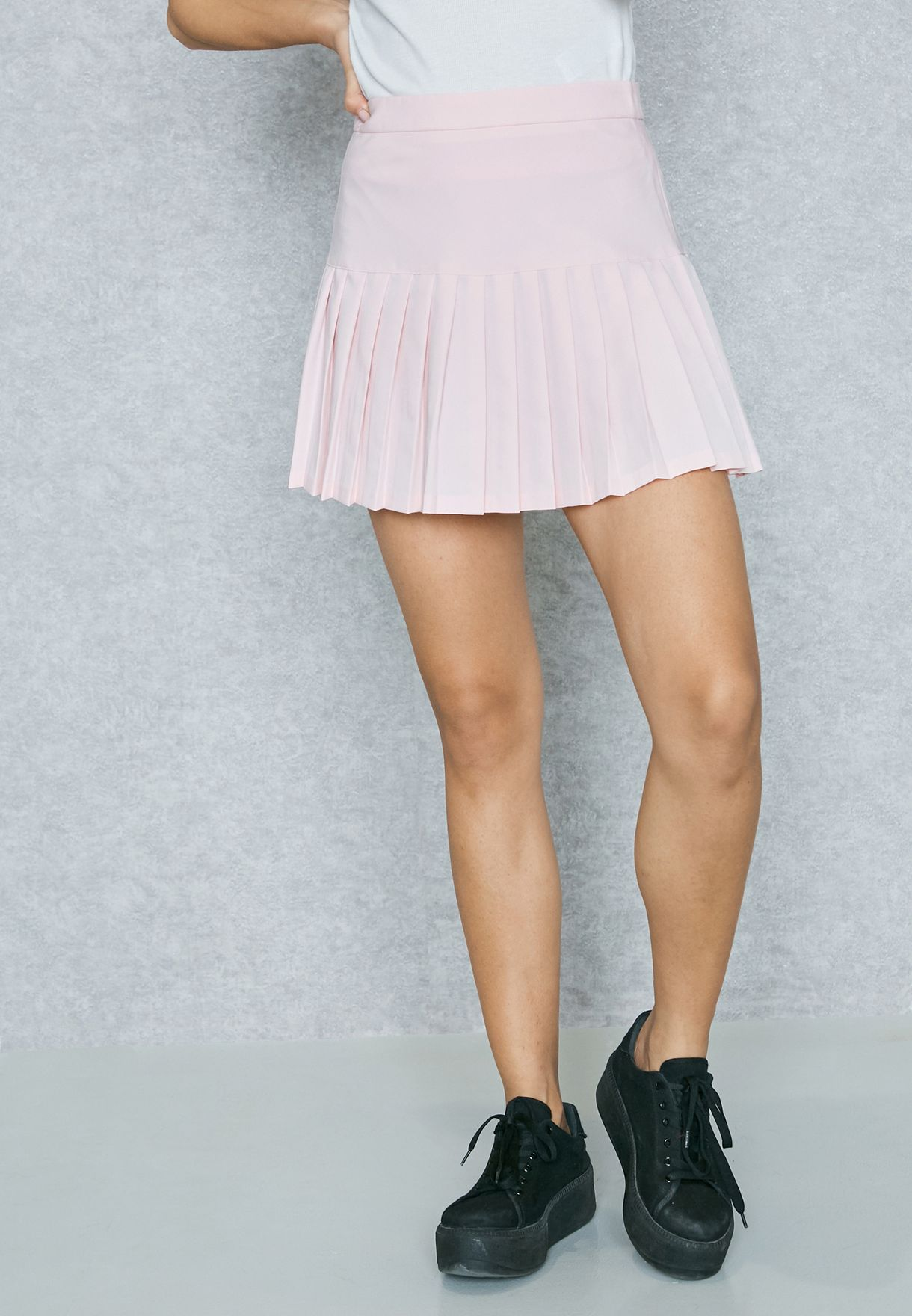 174437c6ff Shop Forever 21 pink Pleated Mini Skirt 0084631 for Women in Qatar ...