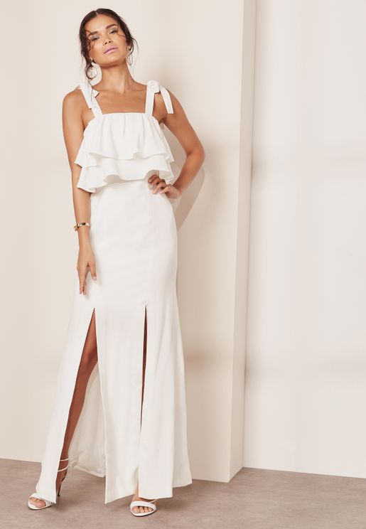 Be About You Front Split Layer Maxi Dress