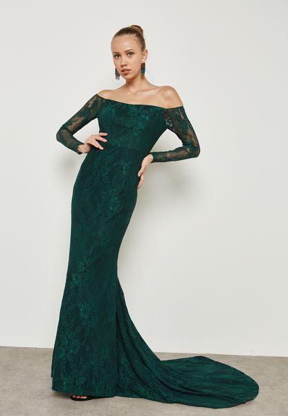 Bardot Lace Bodycon Dress