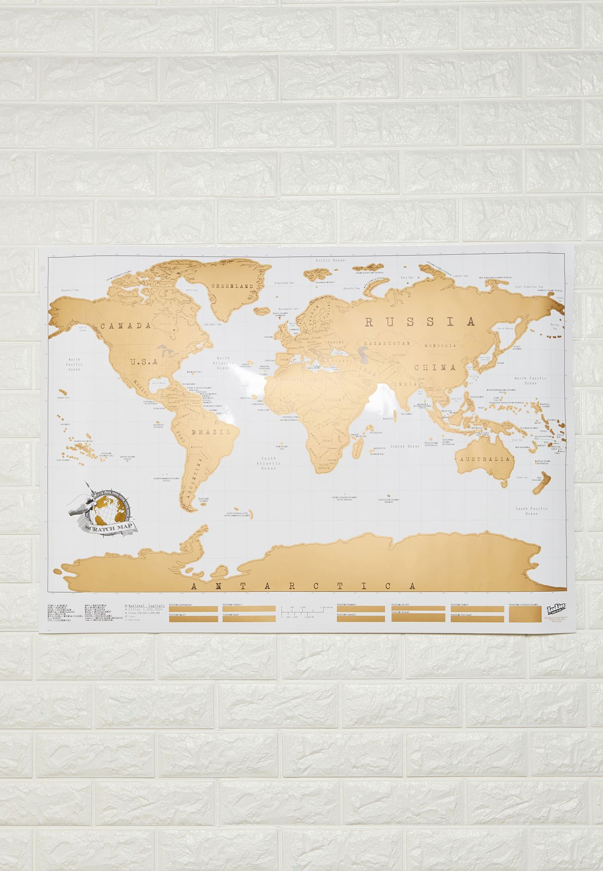 Shop luckies multicolor world map scratch poster luscr for women in world map scratch poster gumiabroncs Gallery