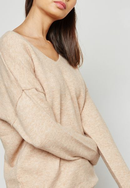 Longline Whipstitch Sweater
