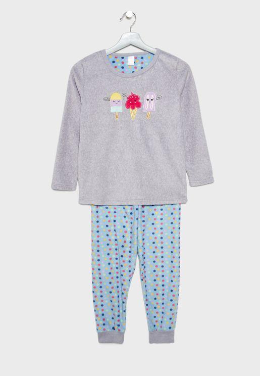 Kids Ice Cream Pyjama Set