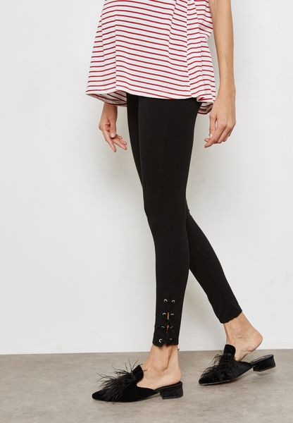 Lace Up Leggings