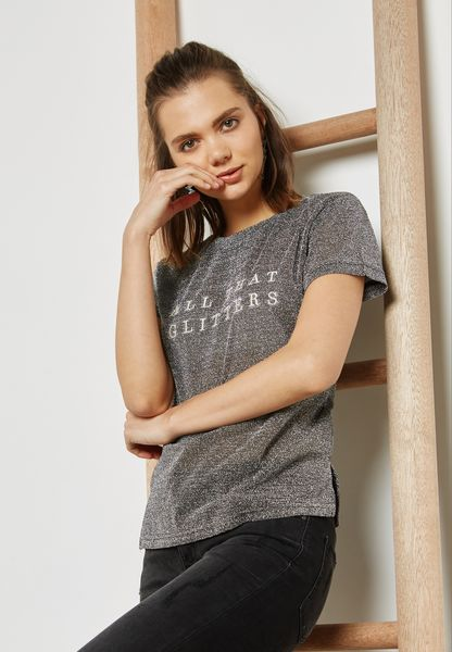 Glitter Slogan T-Shirt