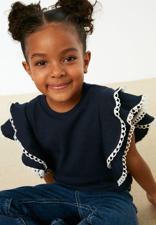 Kids Frill Sleeve Top
