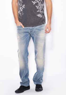 Diesel Safado Straight Fit Light Wash Jeans
