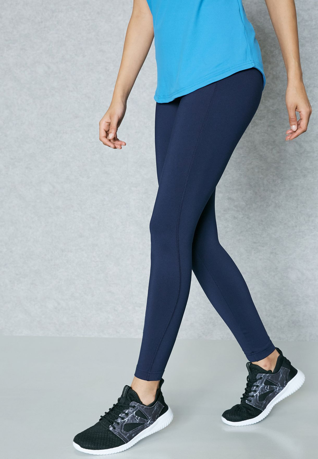 79178a771ac Shop Reebok navy Workout Ready Tights BK6487 for Women in Bahrain ...