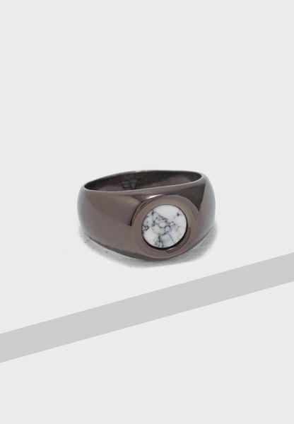 Medium Hematite Signet Ring