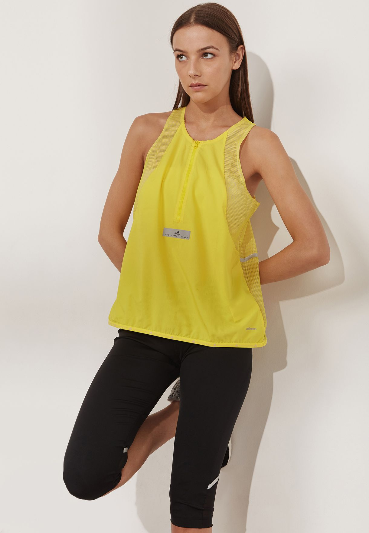 Women's Clothing Adidas Stella Mccartney Ladies Yellow Fittnes Top Size 38 Clothing, Shoes & Accessories