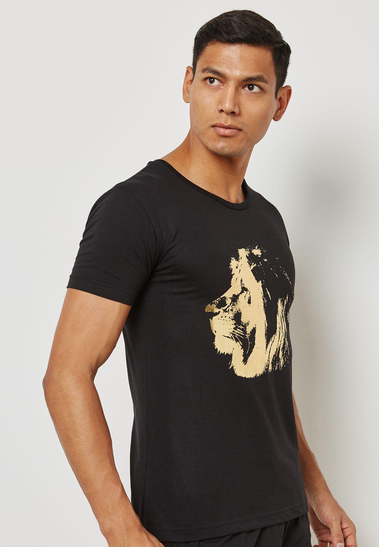 Gold Lion Nightwear Set