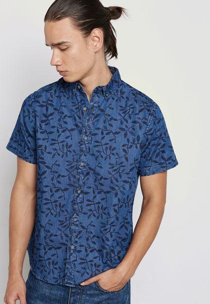 Mace Leaf Print Shirt