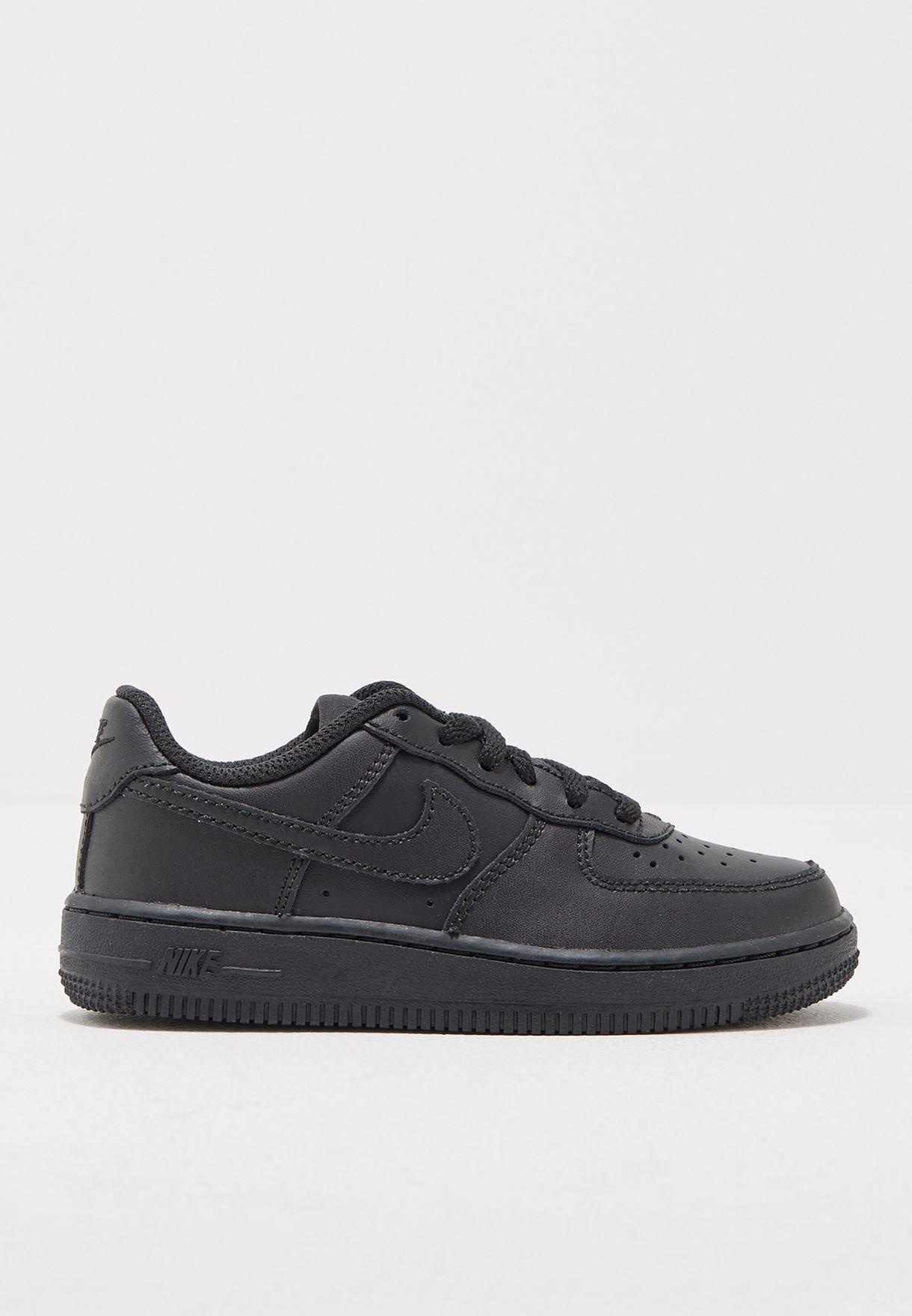 ef3f651dbca Shop Nike black Kids Air Force 1 314193-009 for Kids in UAE ...