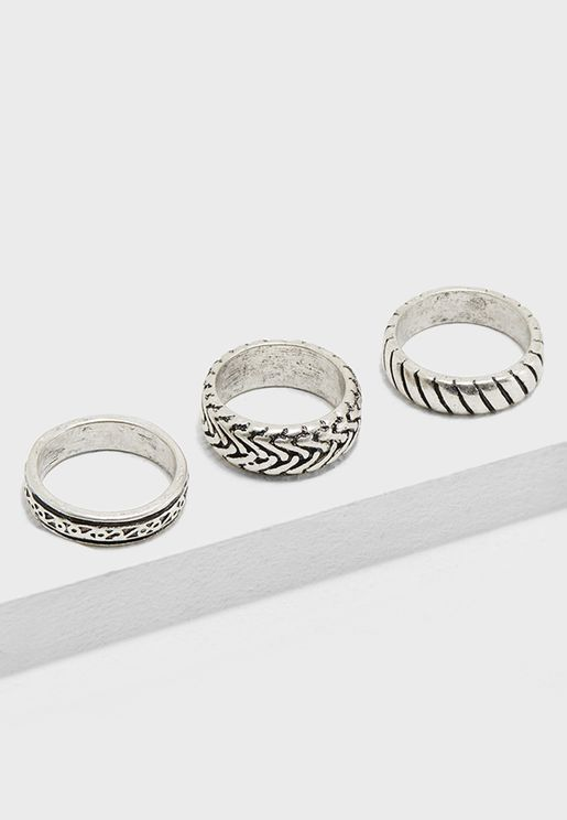 3 Pack Band Rings