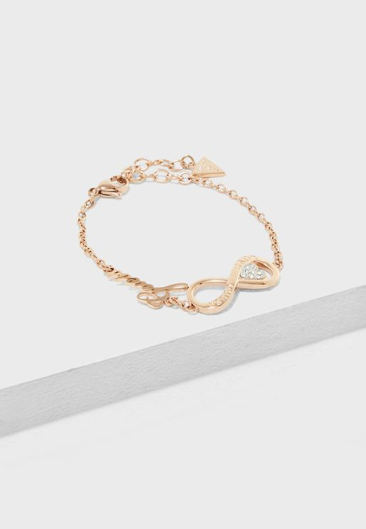 Infinity And Heart Bracelet