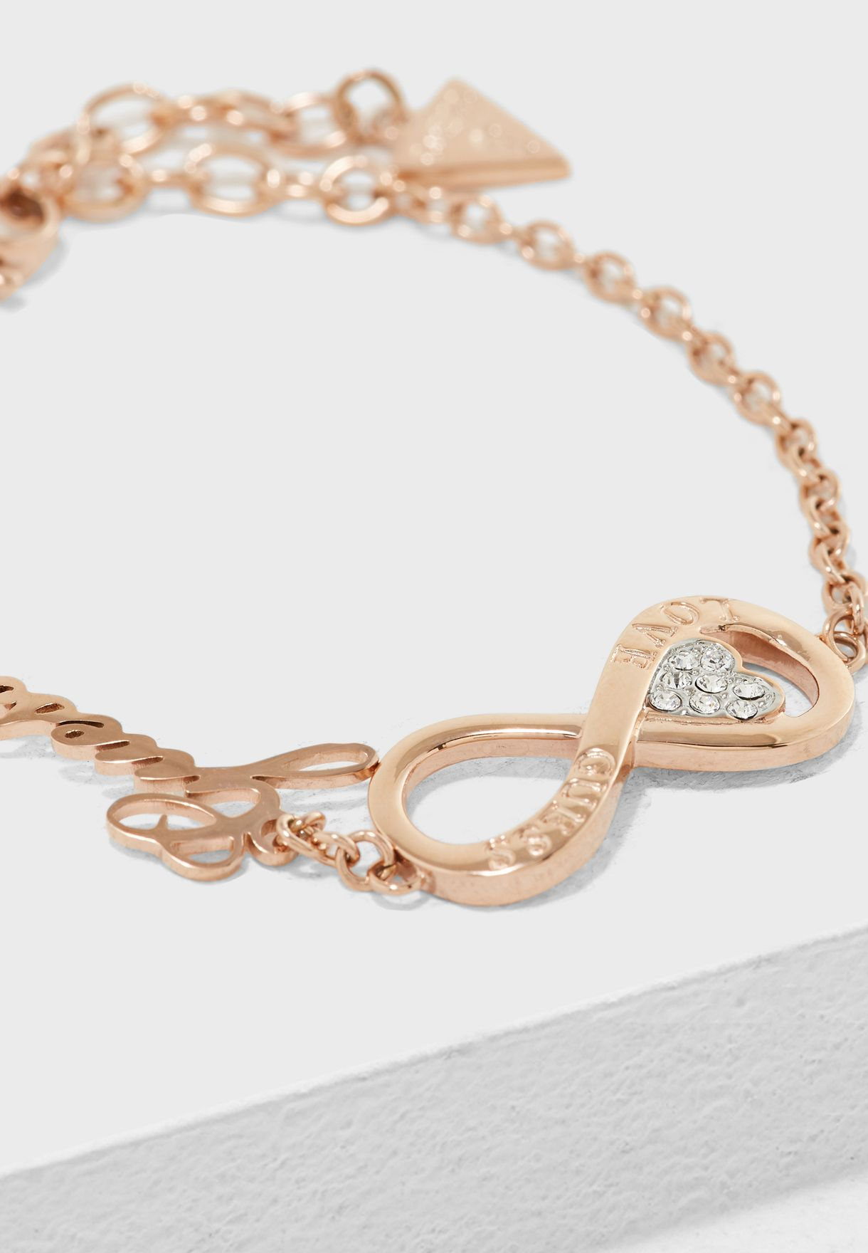 Infinity And Heart Bracelet