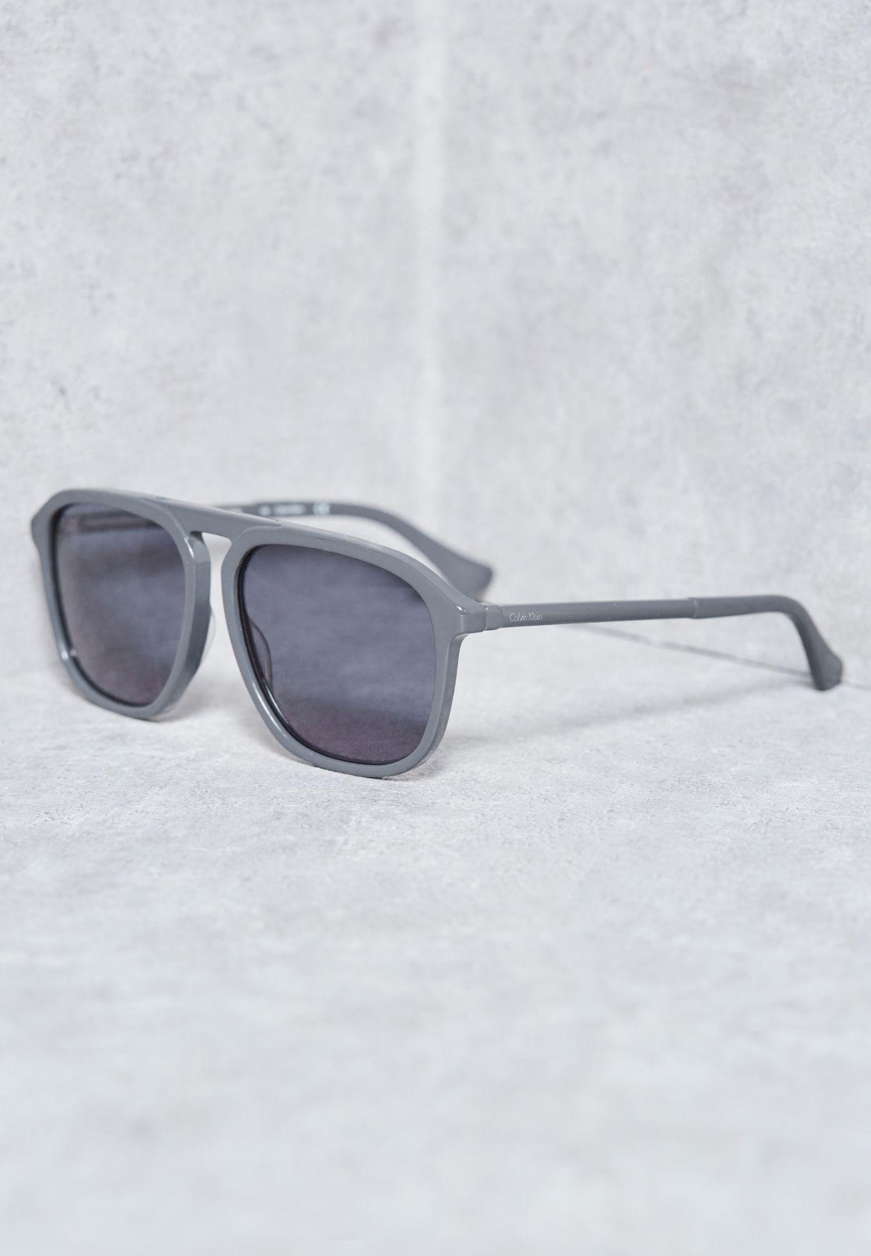 201b8136c تسوق نظارة شمسية كاجوال ماركة كالفن كلاين لون رمادي CK4317S-040 في ...