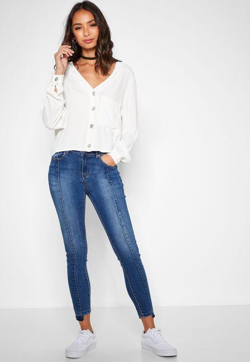 Seam Detail Skinny Jeans