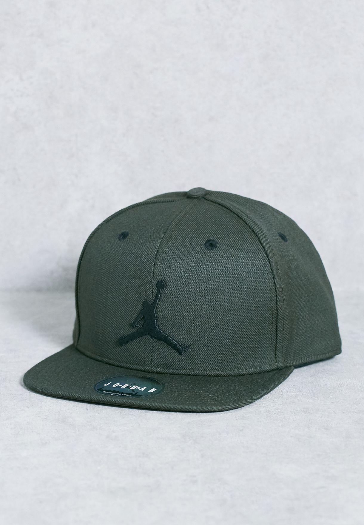 348bedced4e Shop Nike green Jordan Jumpman Snapback 619360-355 for Men in Oman ...