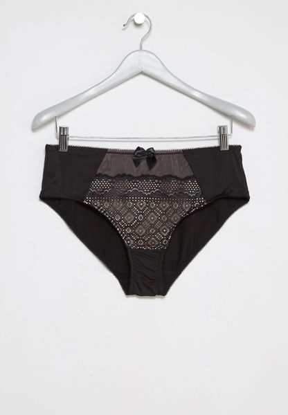 Geometric Lace Bow Brief