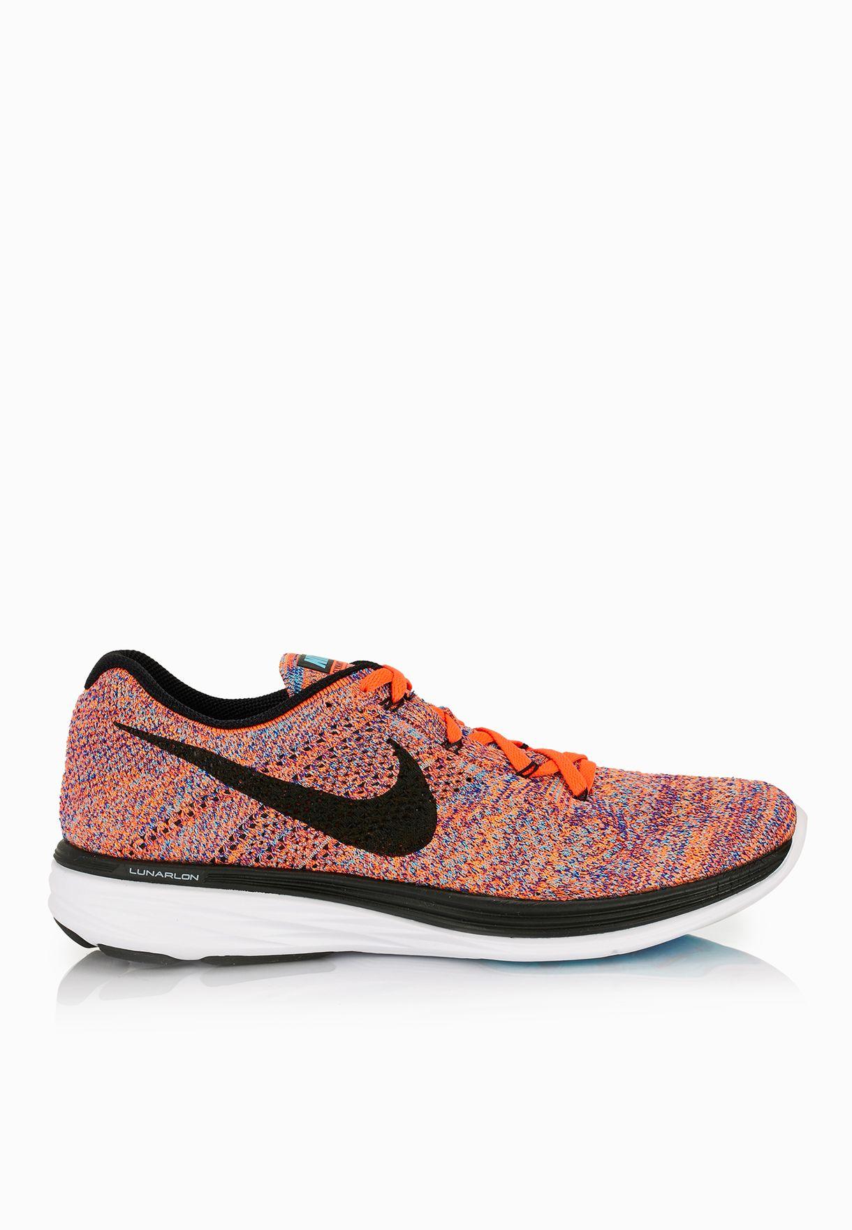 ab44b0369c7181 Shop Nike multicolor Flyknit Lunar3 698181-406 for Men in UAE ...