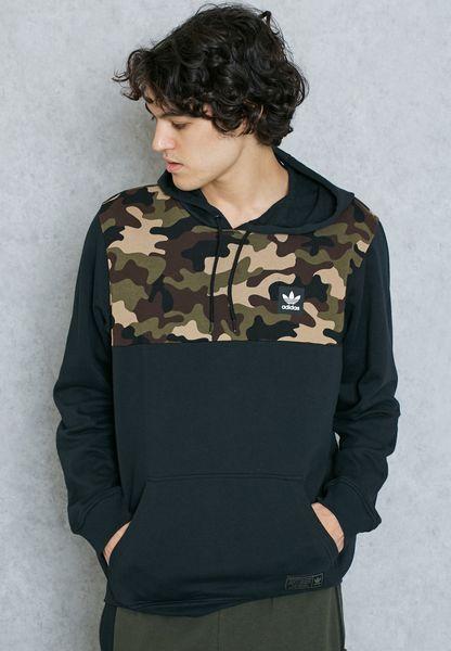 shop adidas originals black camo block hoodie ay8891 for. Black Bedroom Furniture Sets. Home Design Ideas